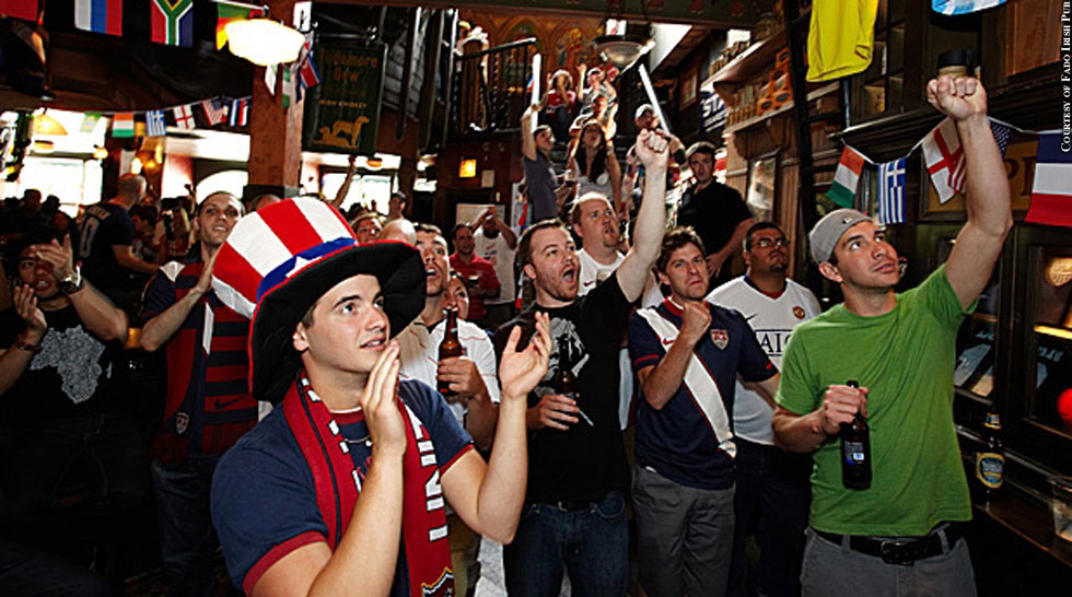 Issue 198: Sports Business: Soccer Fans At Fado Irish Pub