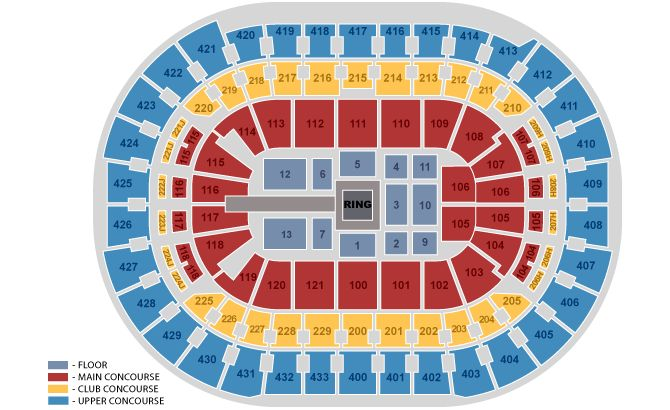 Wrestling & Boxing Seating Chart