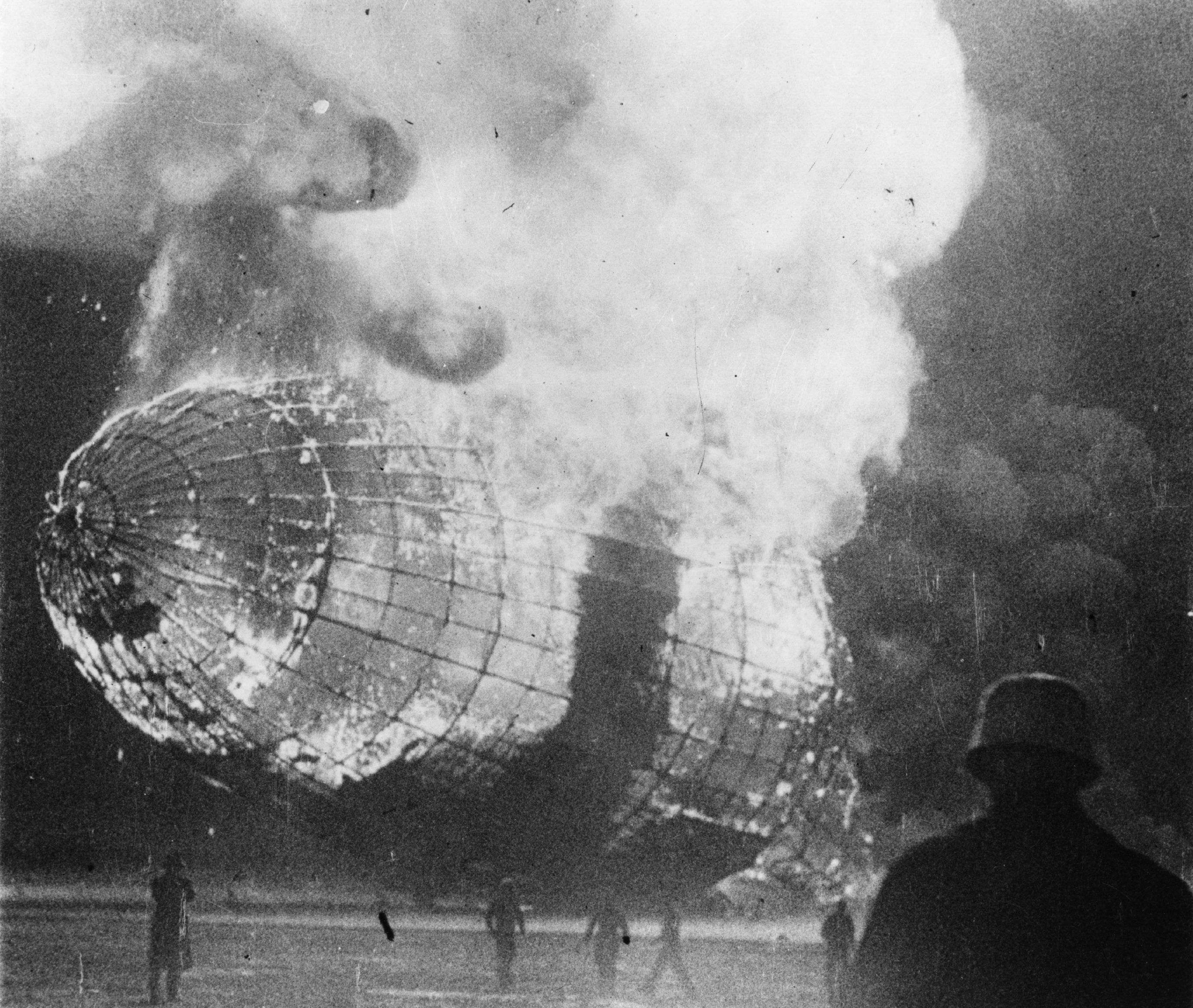 an analysis of the inferno on the arrival of the hindenburg The blazing inferno that was the german airship hindenburg is reduced to ruins as a survivor, lower right hand corner, runs to safety, may 6, 1937, after it exploded on mooring at lakehurst naval.