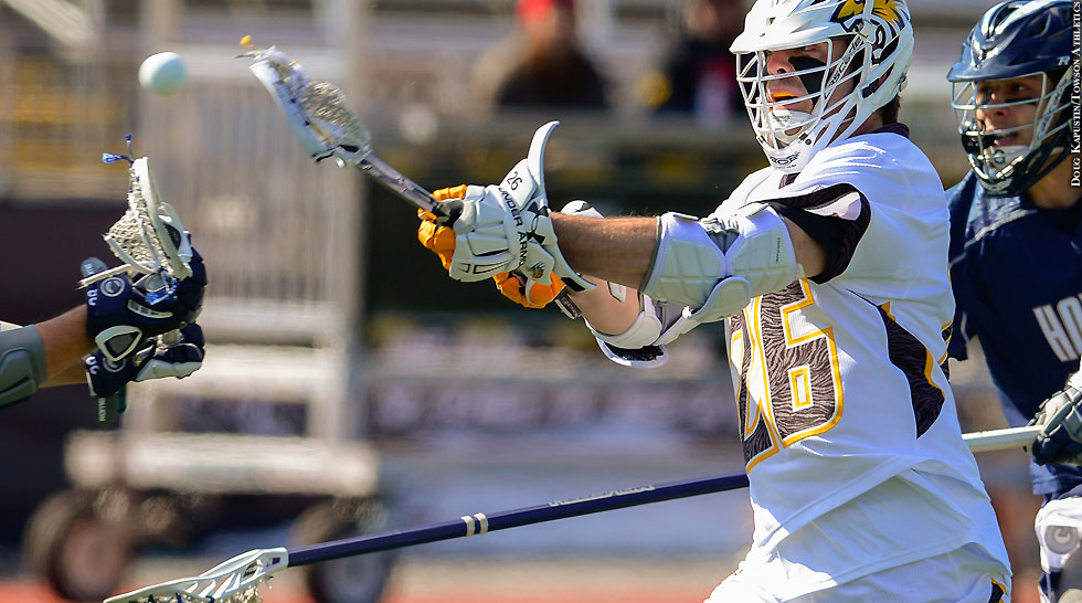 Towson Lacrosse 2016: Joe Seider (stick out)