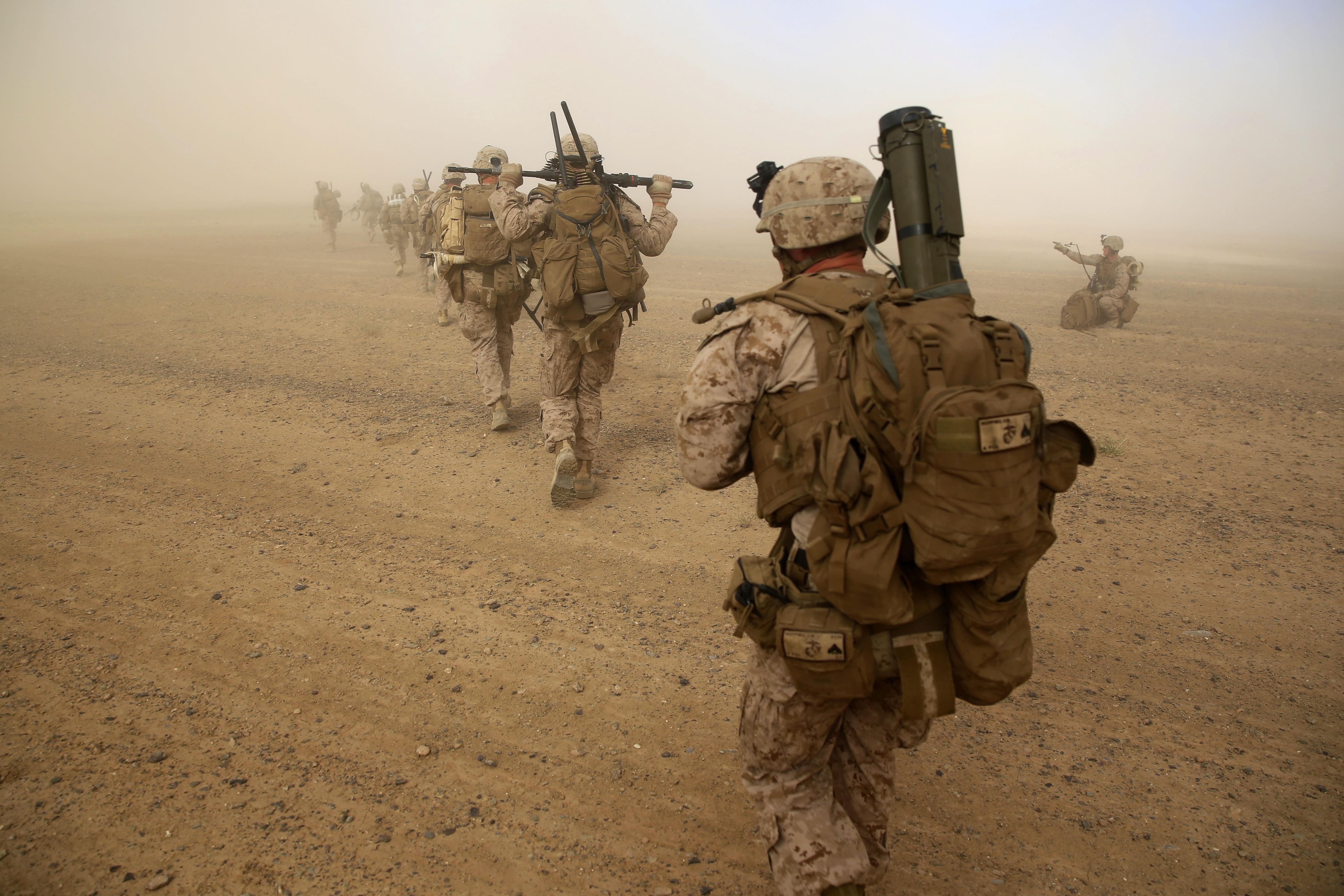 Marine Corps Squad Helmand