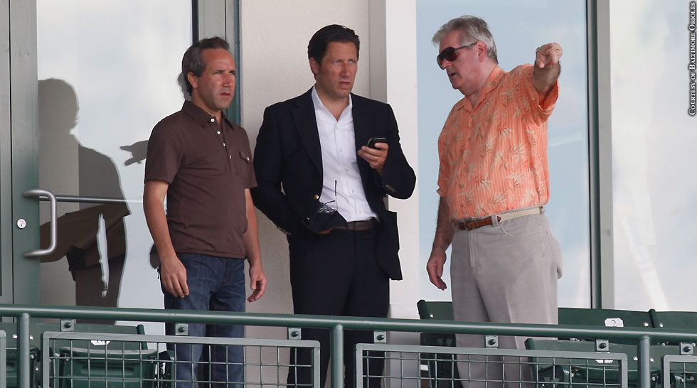 Issue 206: Orioles Spring Training In Sarasota: John Angelos, Louis Angelos, Lou Kousouris