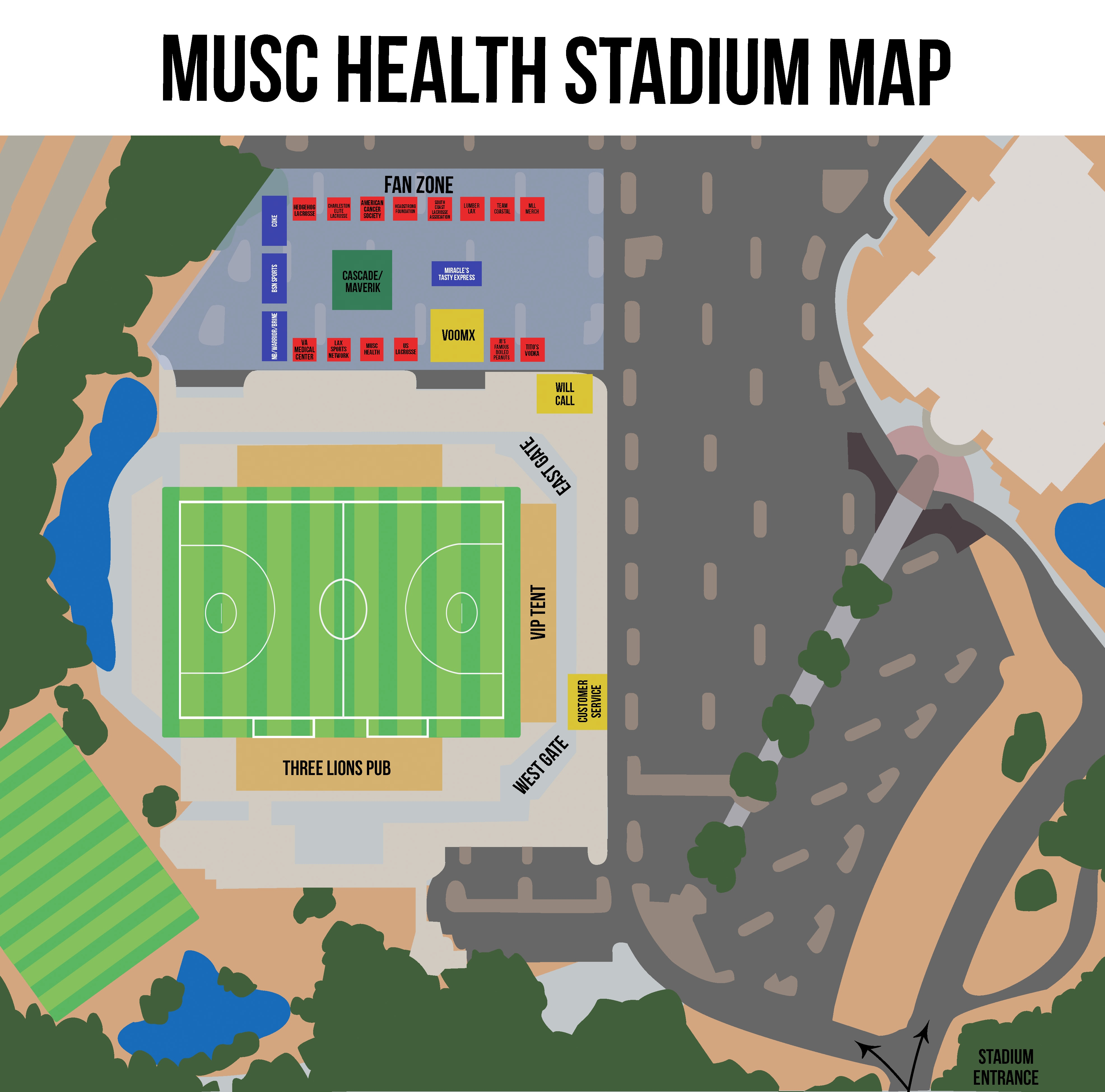 MUSC Health Stadium Map