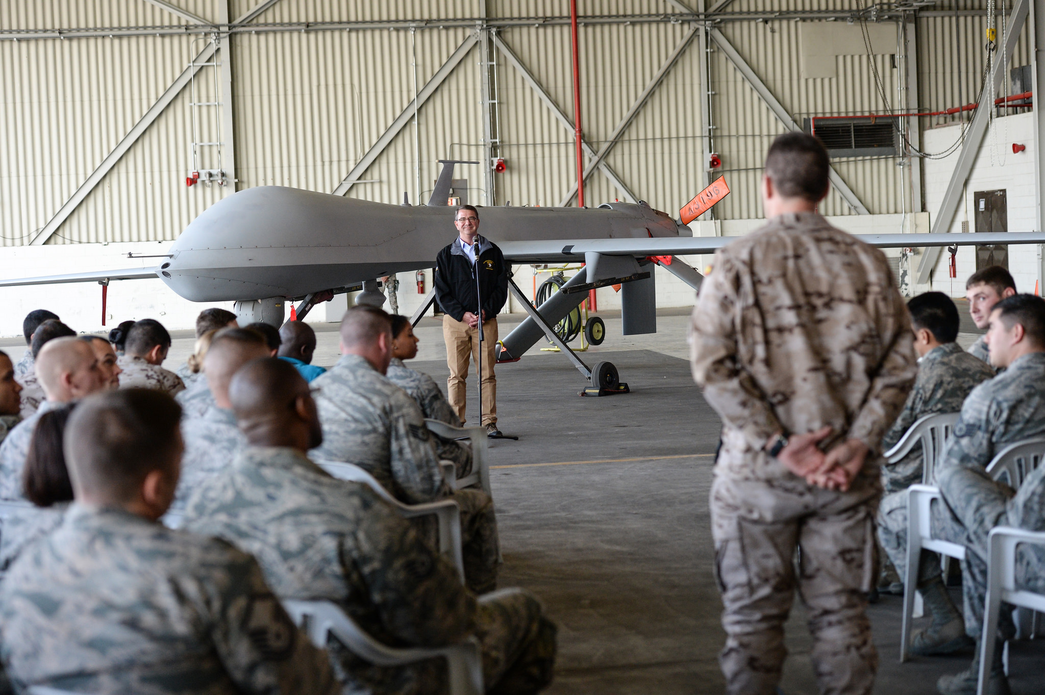 Secretary of Defense Ash Carter at Incirlik AFB, Turkey