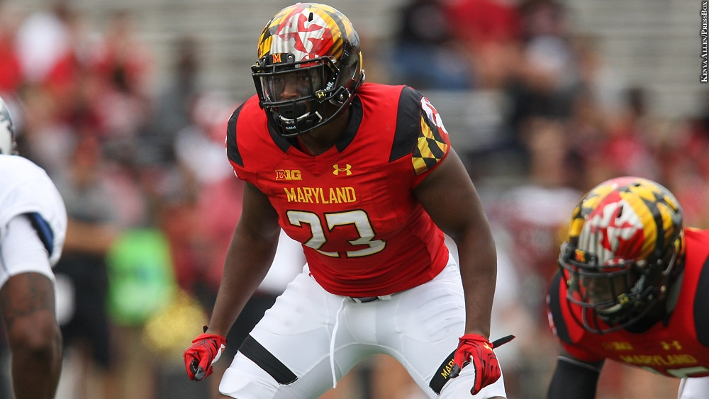 Maryland Terps Football 2016: Jermaine Carter Jr. (vs. Howard)