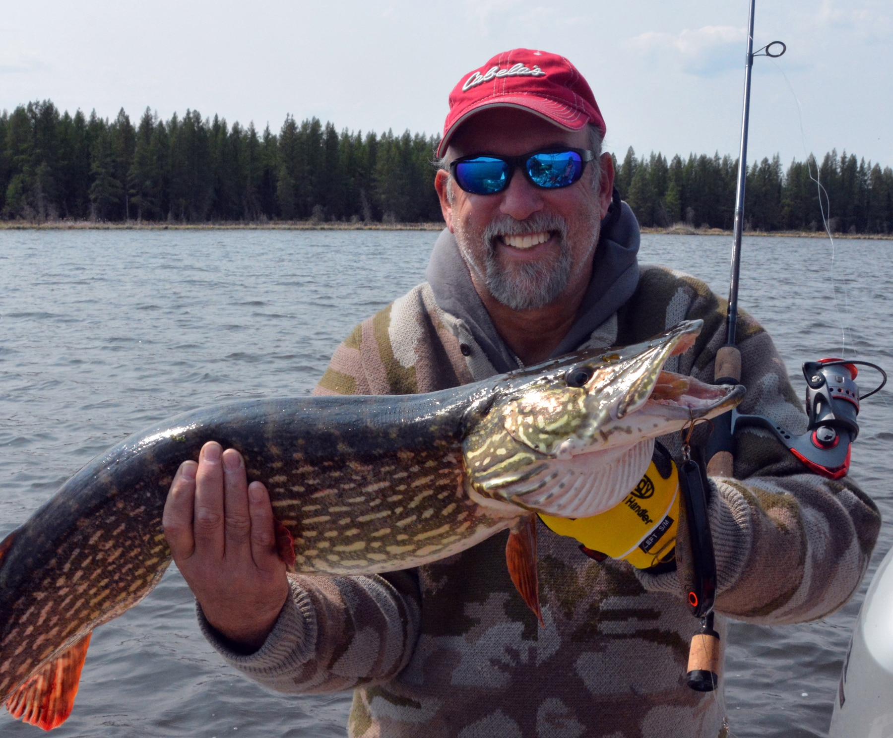 Ken with Cabela's rod and northern pike