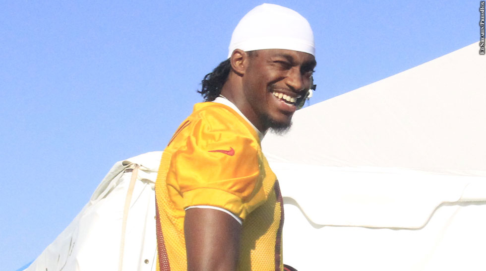 Redskins 2014: Robert Griffin III (no helmet)