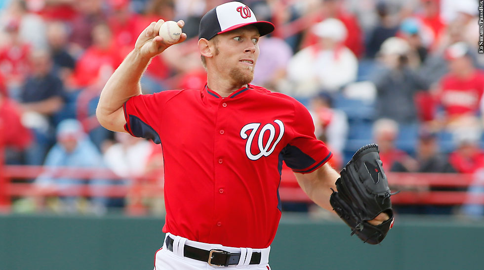 Nationals 2015: Stephen Strasburg (Spring Training, side)