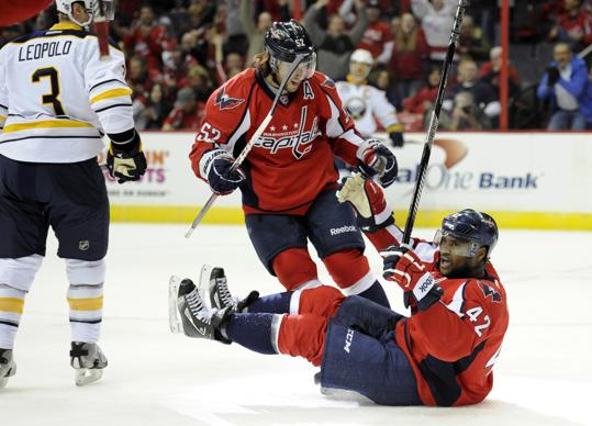 Joel Ward scores against Buffalo January 27
