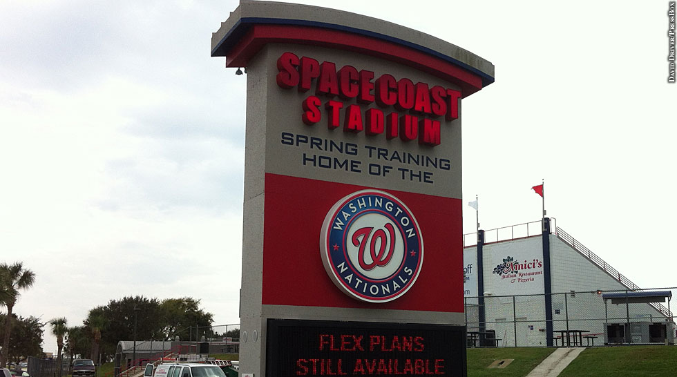 Nationals 2014: Spring Training (Space Coast Stadium sign)