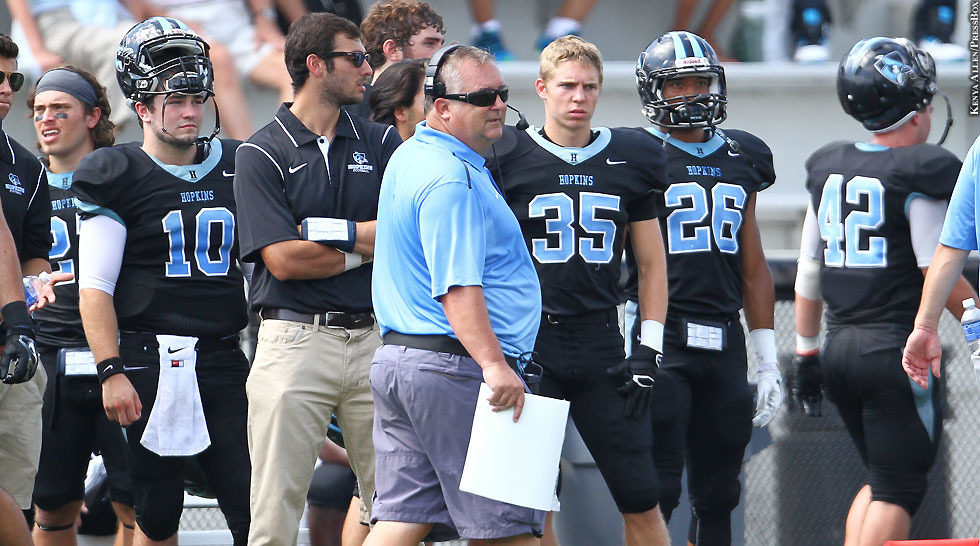 Johns Hopkins Football 2014: Jim Margraff (sideline)