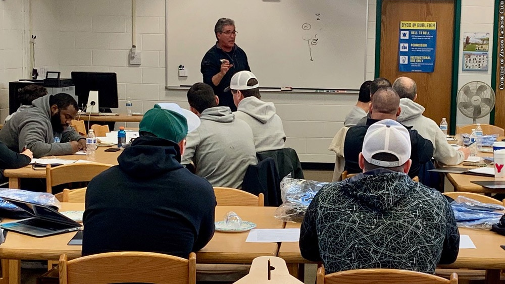 Issue 253: Don Zimmerman at Zingos Lacrosse Club coaches' clinic