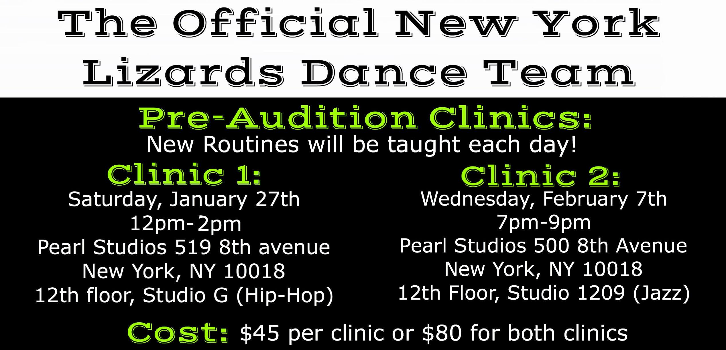 2018 Dance Team Graphic Clinics