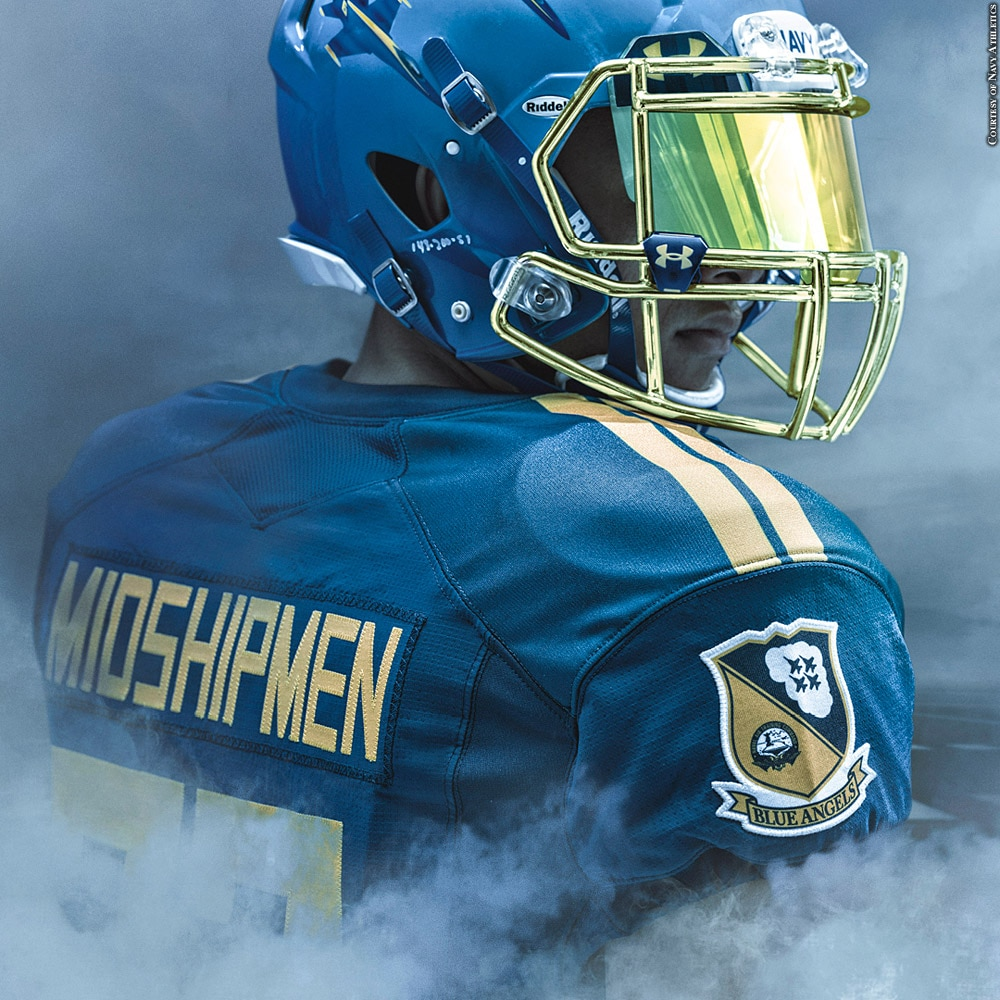 Army Navy Game 2017 Wiki >> Navy Football To Wear Under Armour Blue Angels Uniforms For Army-Navy Game