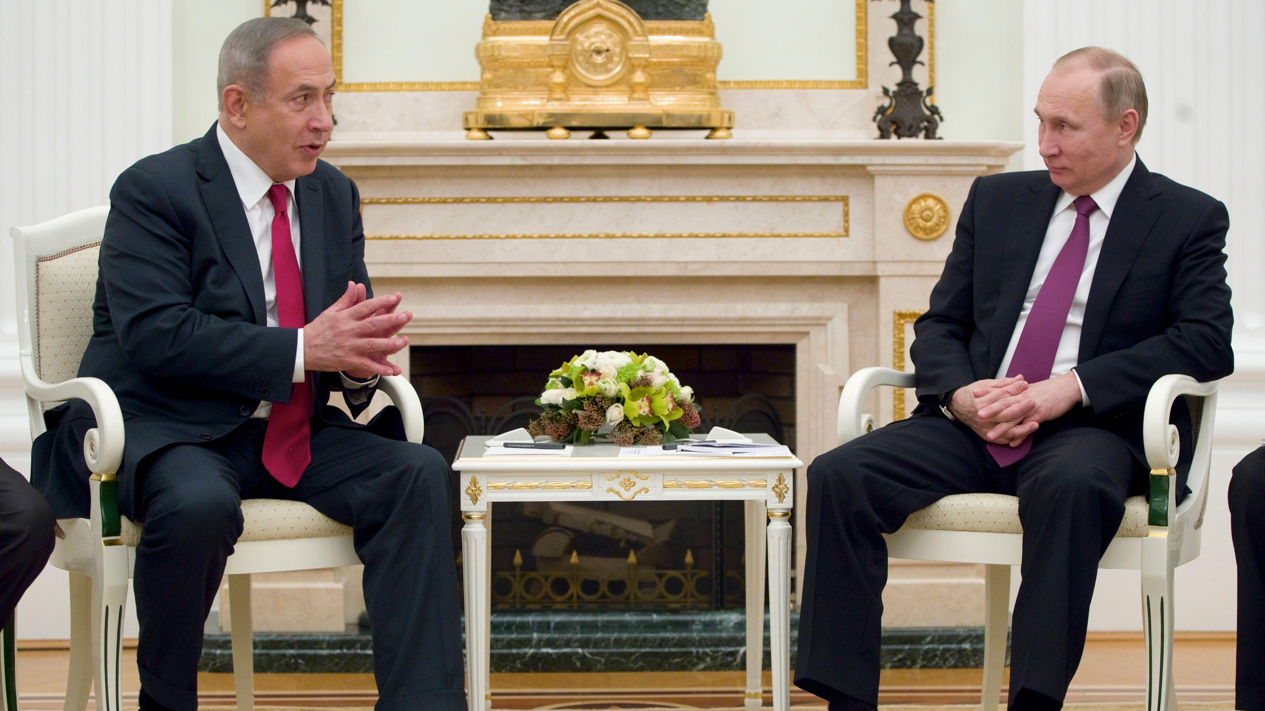 Risultati immagini per Putin e Netanyahu immagini