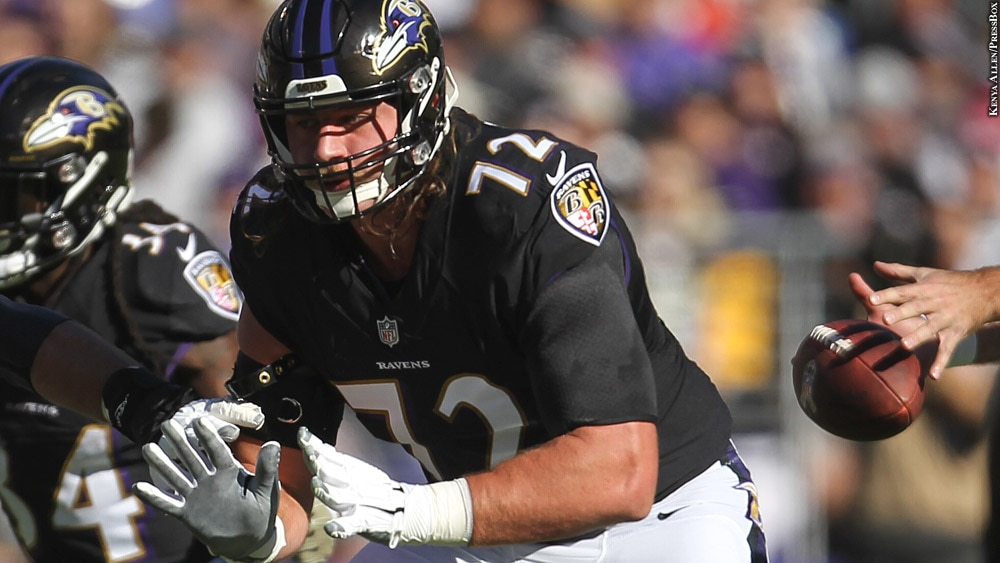 Ravens 2018: Alex Lewis (Week 9 vs. Steelers, at line)