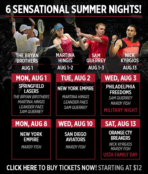Washington Kastles Summer '16 Schedule