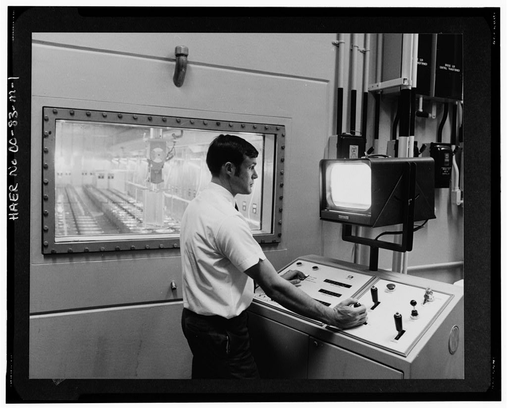 Rocky Flats plutonium production control room
