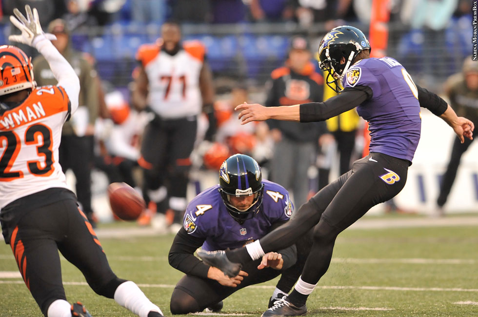 Ravens 2013: Week 10 vs. Bengals No. 10 (Justin Tucker, Sam Koch)