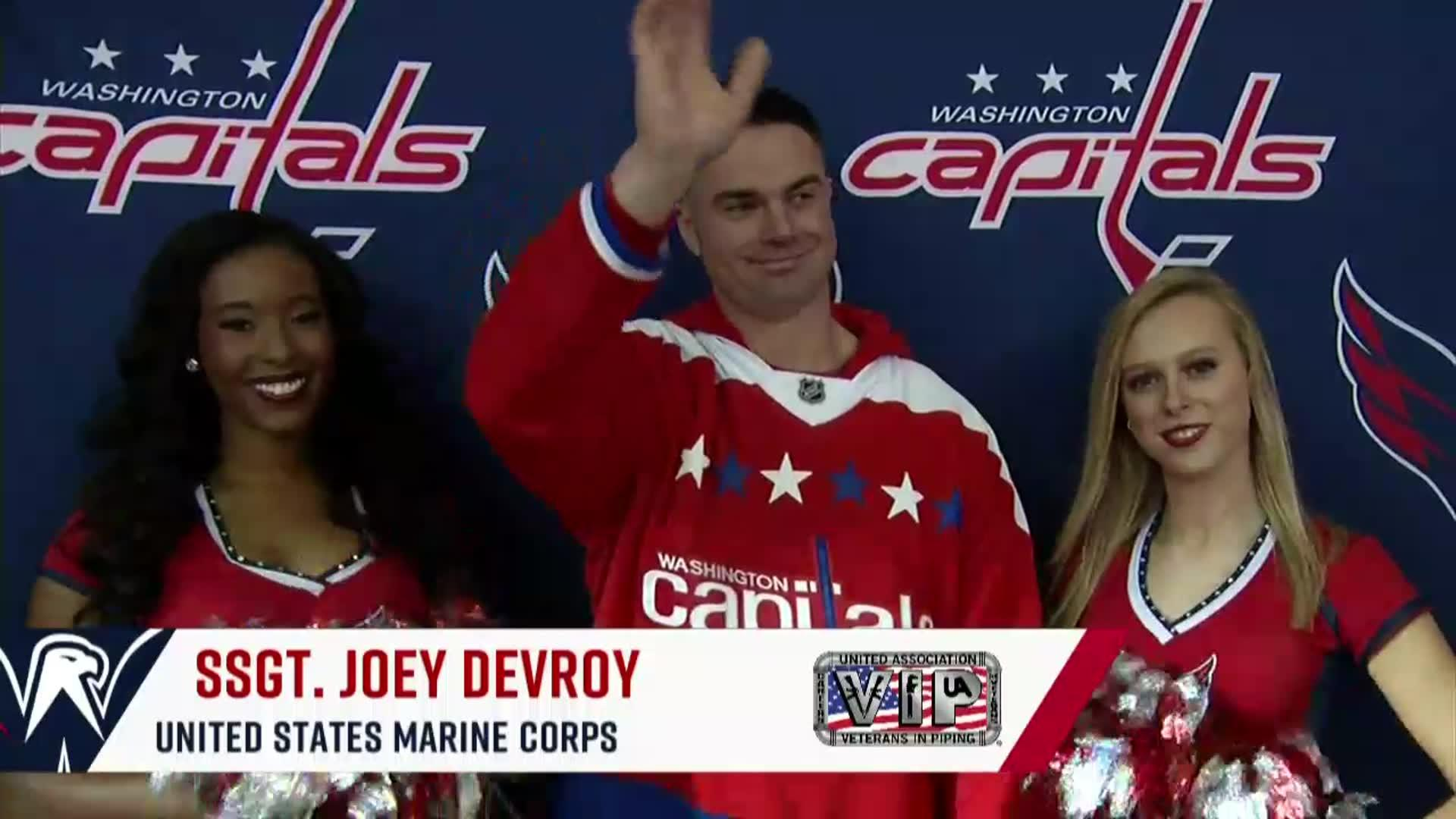 #CapsFlames Salute to the Troops 11/20/17