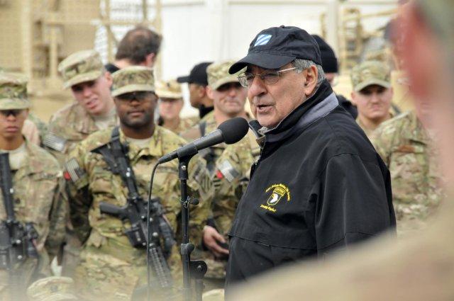 Leon Panetta troops Afghanistan 2012