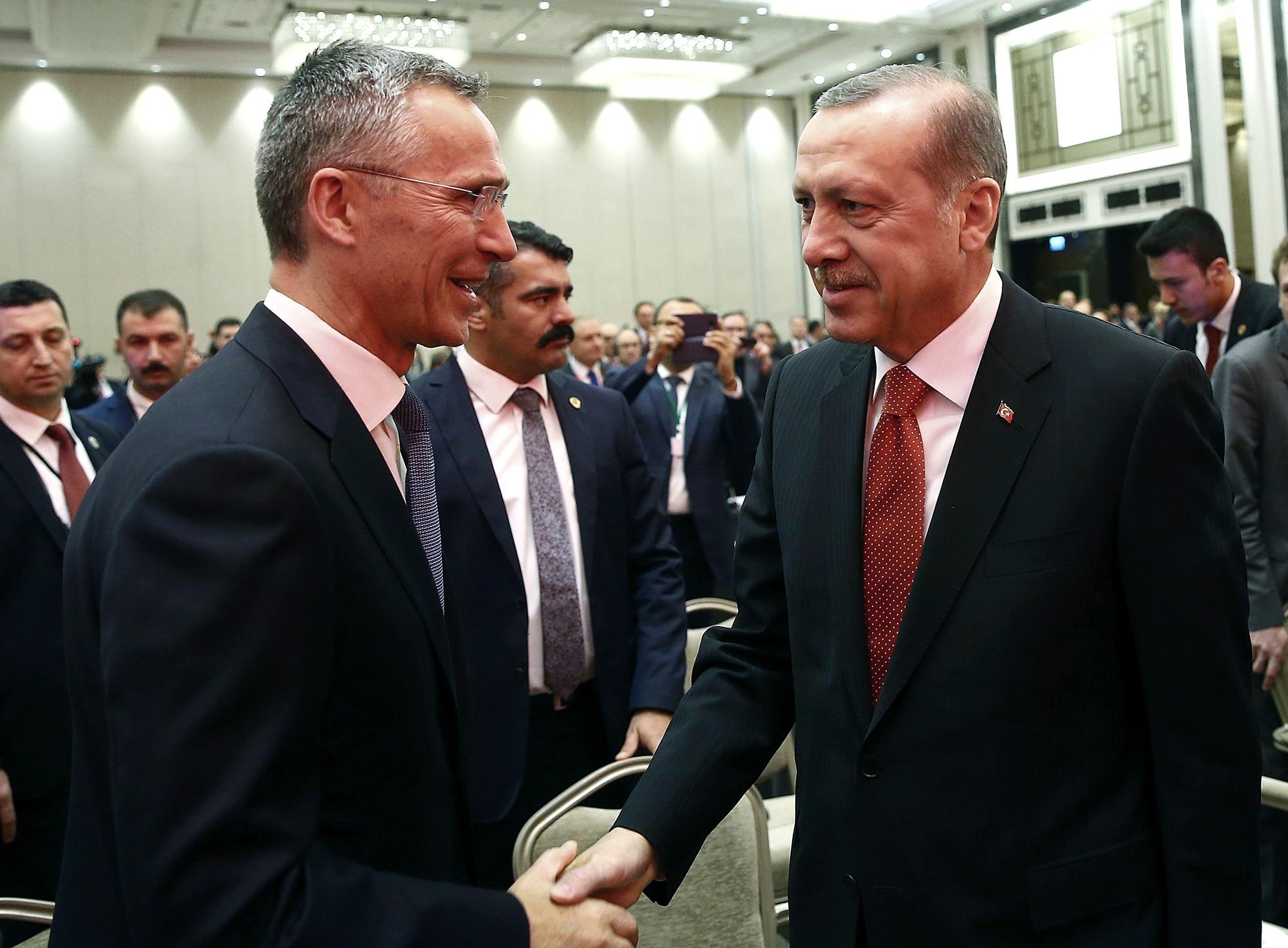 Erdogan, Stoltenberg, Istanbul, NATO