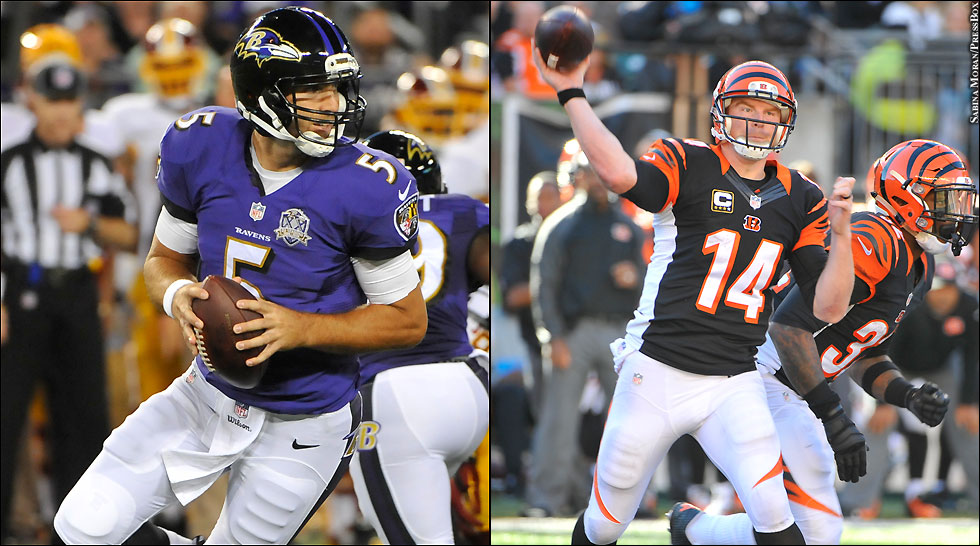 Ravens 2014: Joe Flacco, Andy Dalton (Bengals)