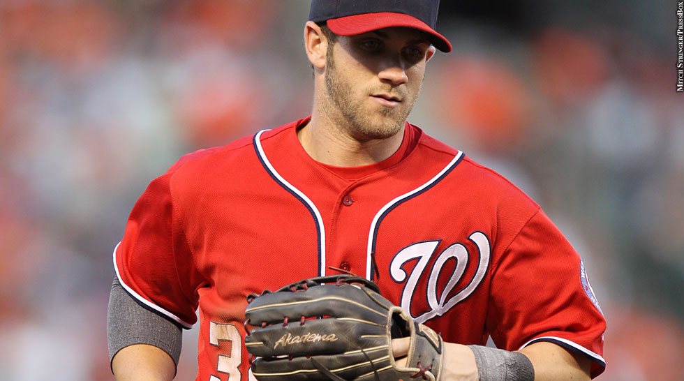 Nationals 2012: Bryce Harper (fielding)