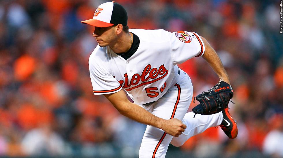 Orioles 2015: Miguel Gonzalez (follow through)