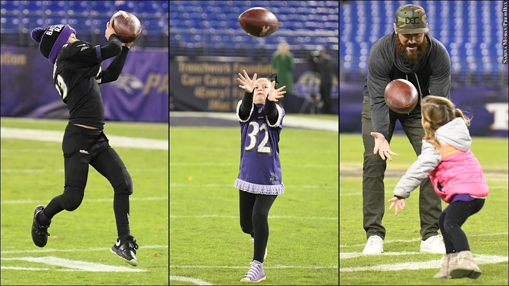 Issue 240: Eric Weddle plays catch with his kids after game