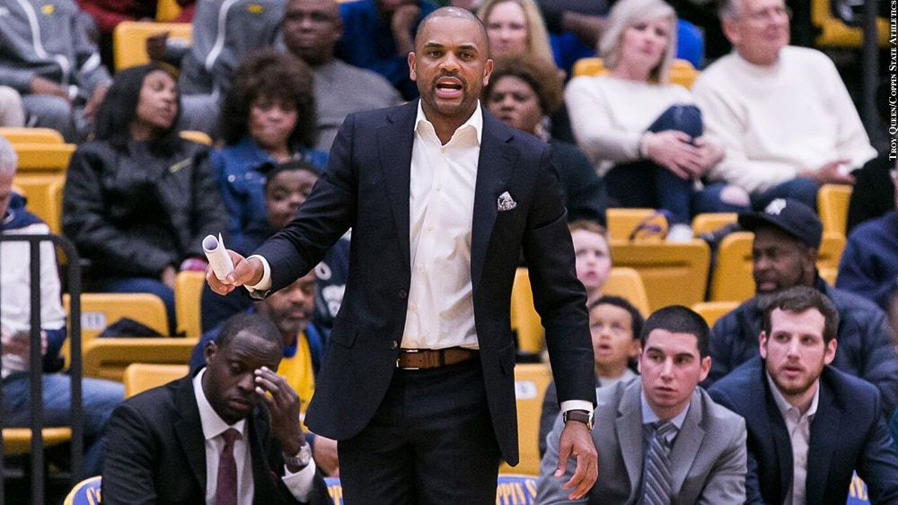 Issue 248: Coppin State Basketball: Juan Dixon (arm out)