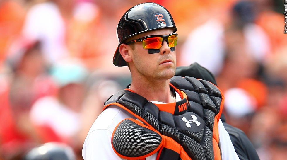 Orioles 2015: Matt Wieters (sunglasses)