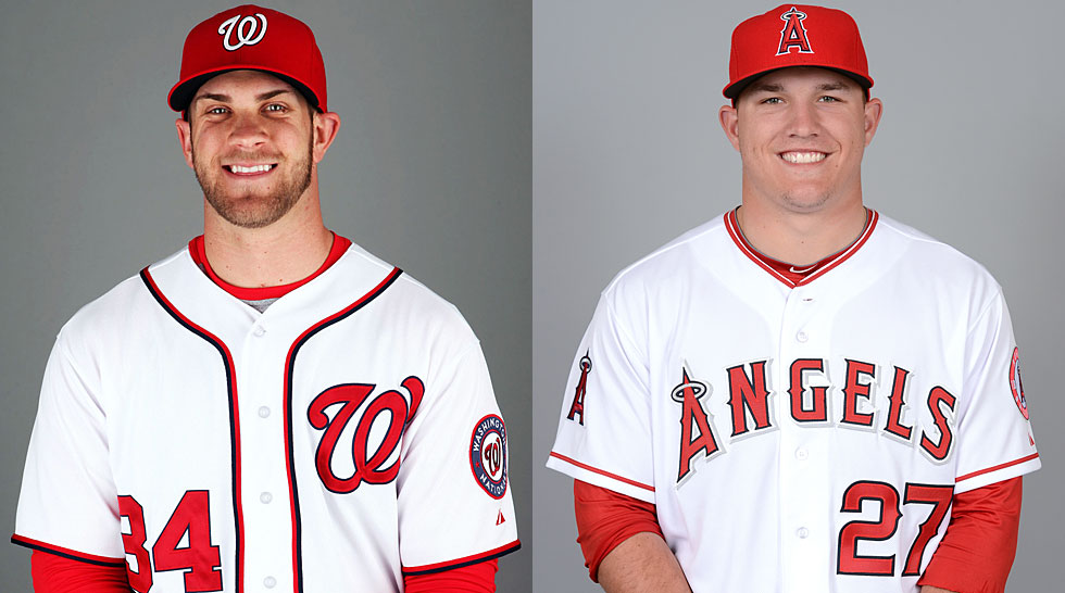 Nationals 2014: Bryce Harper, Mike Trout
