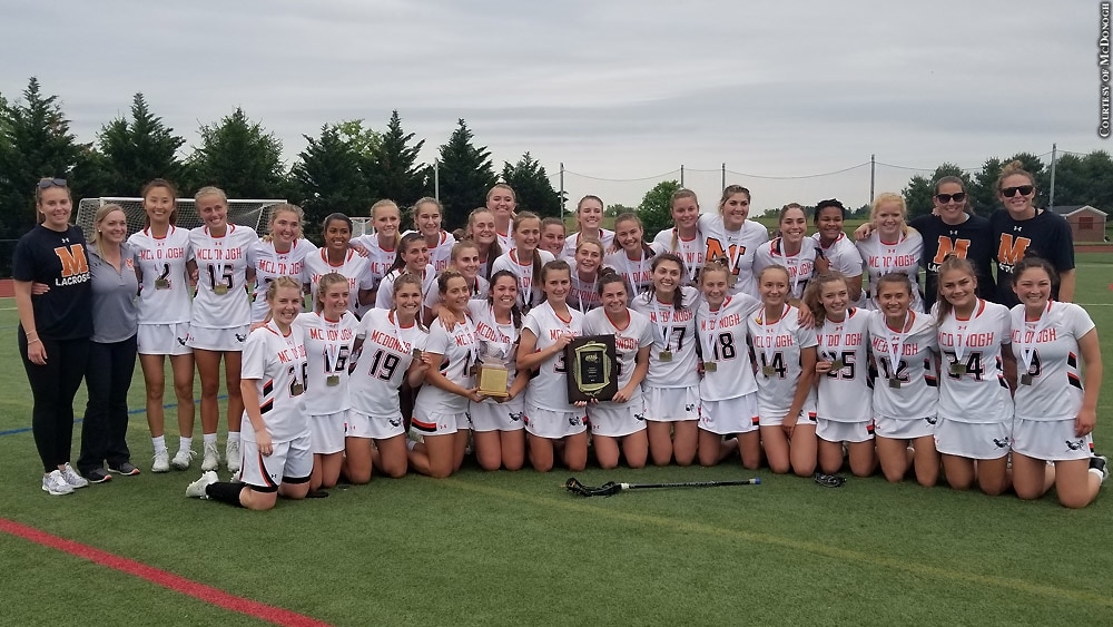 Issue 255: McDonogh girls' lacrosse after winning 2019 IAAM A Conference title