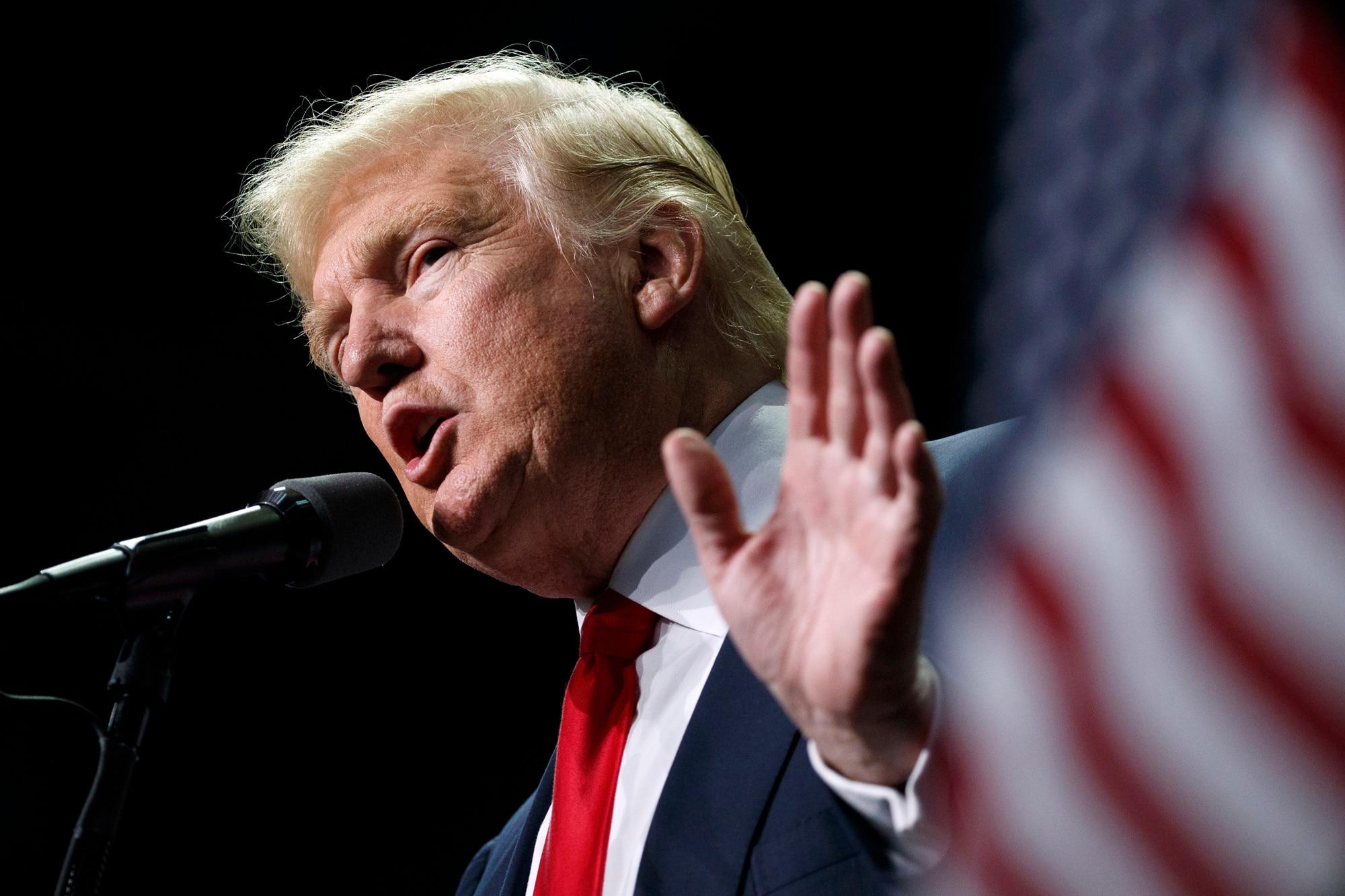 Donald Trump speaks in Hershey, Pa., on Nov. 4, 2016
