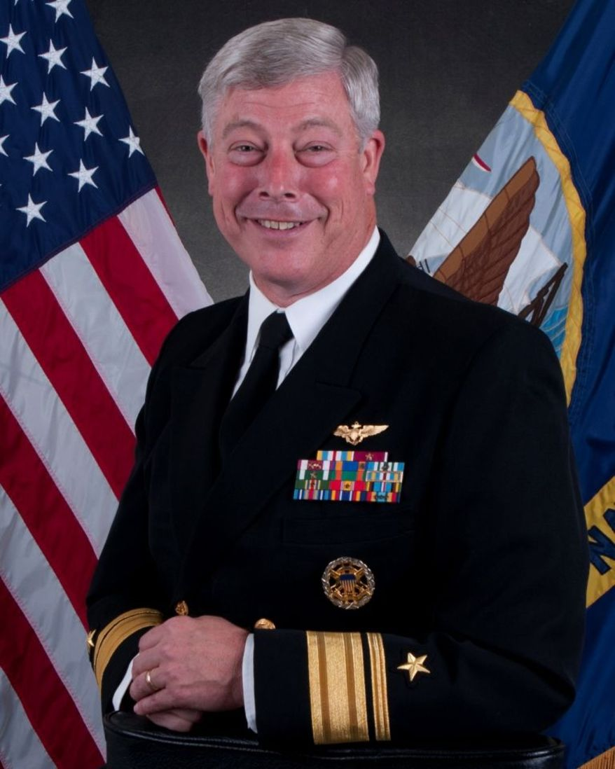 Official Navy portrait for retired Rear Adm. Patrick J. Lorge.