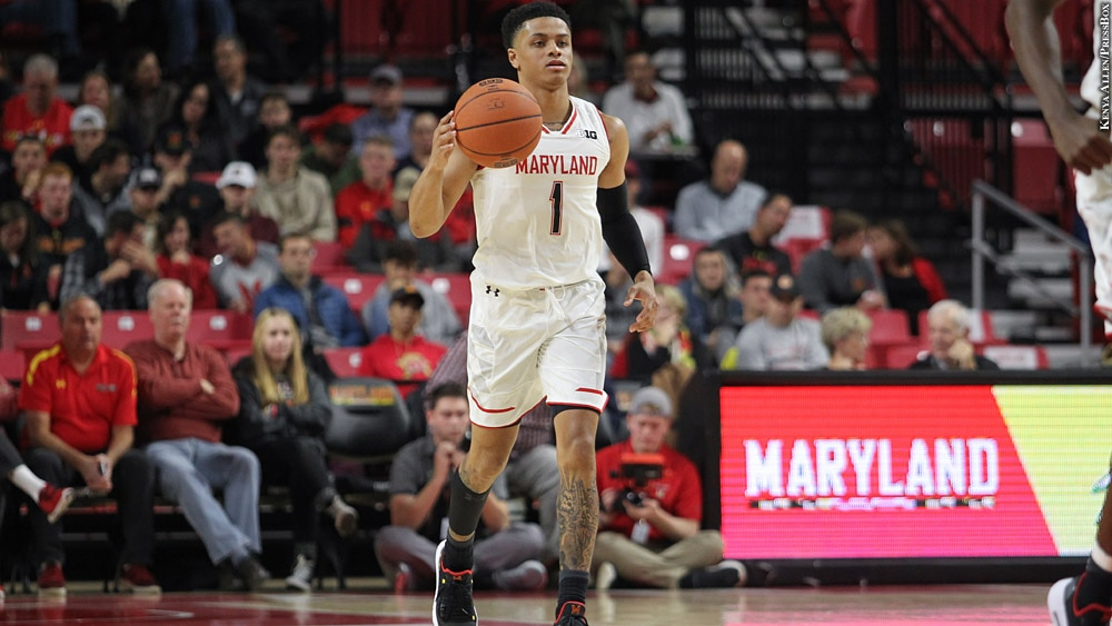 Maryland Terps Basketball 2018-19: Anthony Cowan Jr. (dribbling)