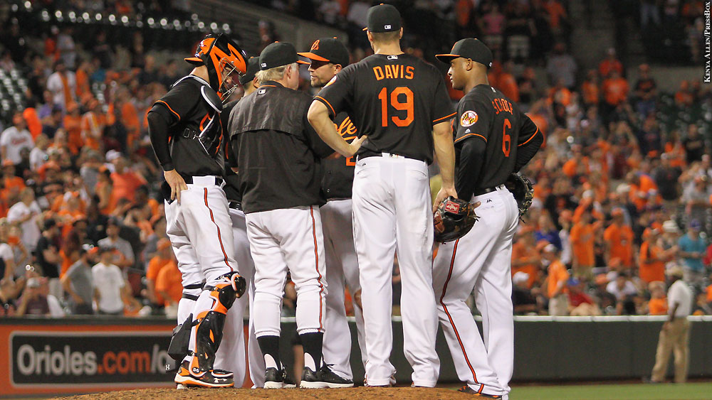 Orioles16-722-meeting-on-mound-showalter-joseph-davis