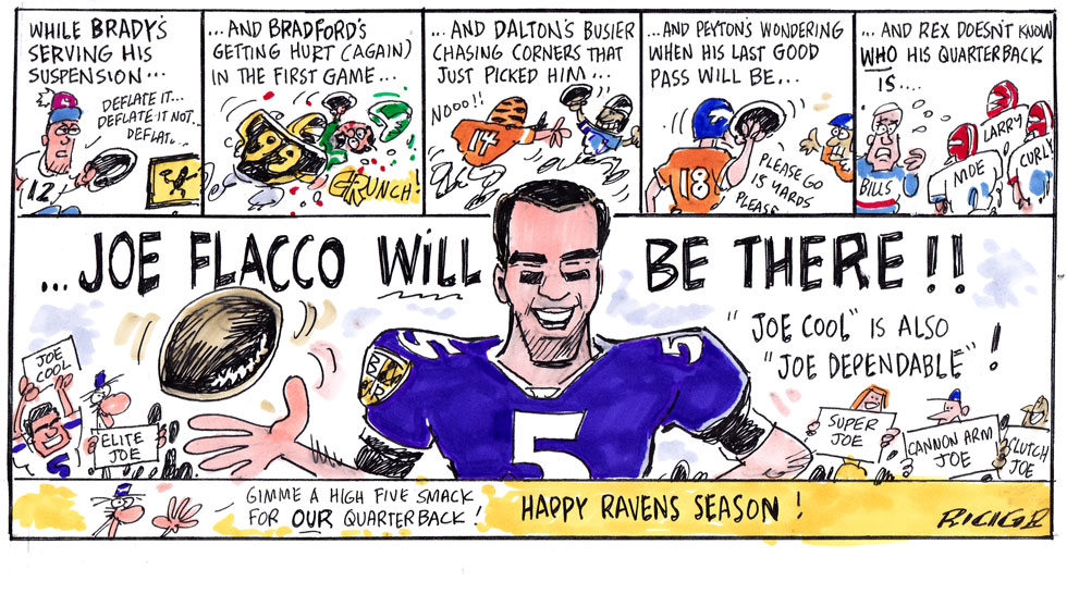 Issue 212: Cartoons By Ricig: Happy Ravens Season