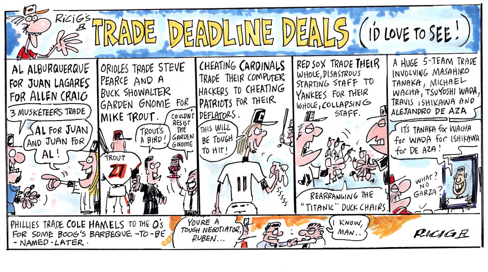 Issue 211: Cartoons By Ricig: Ricig's Trade Deadline Deals (I'd Love To See)