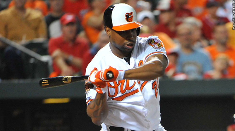 Orioles 2014: Delmon Young (batting)