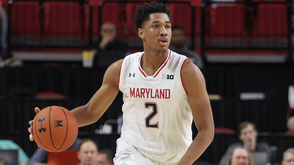 Maryland Terps Basketball 2018-19: Aaron Wiggins (dribbling)