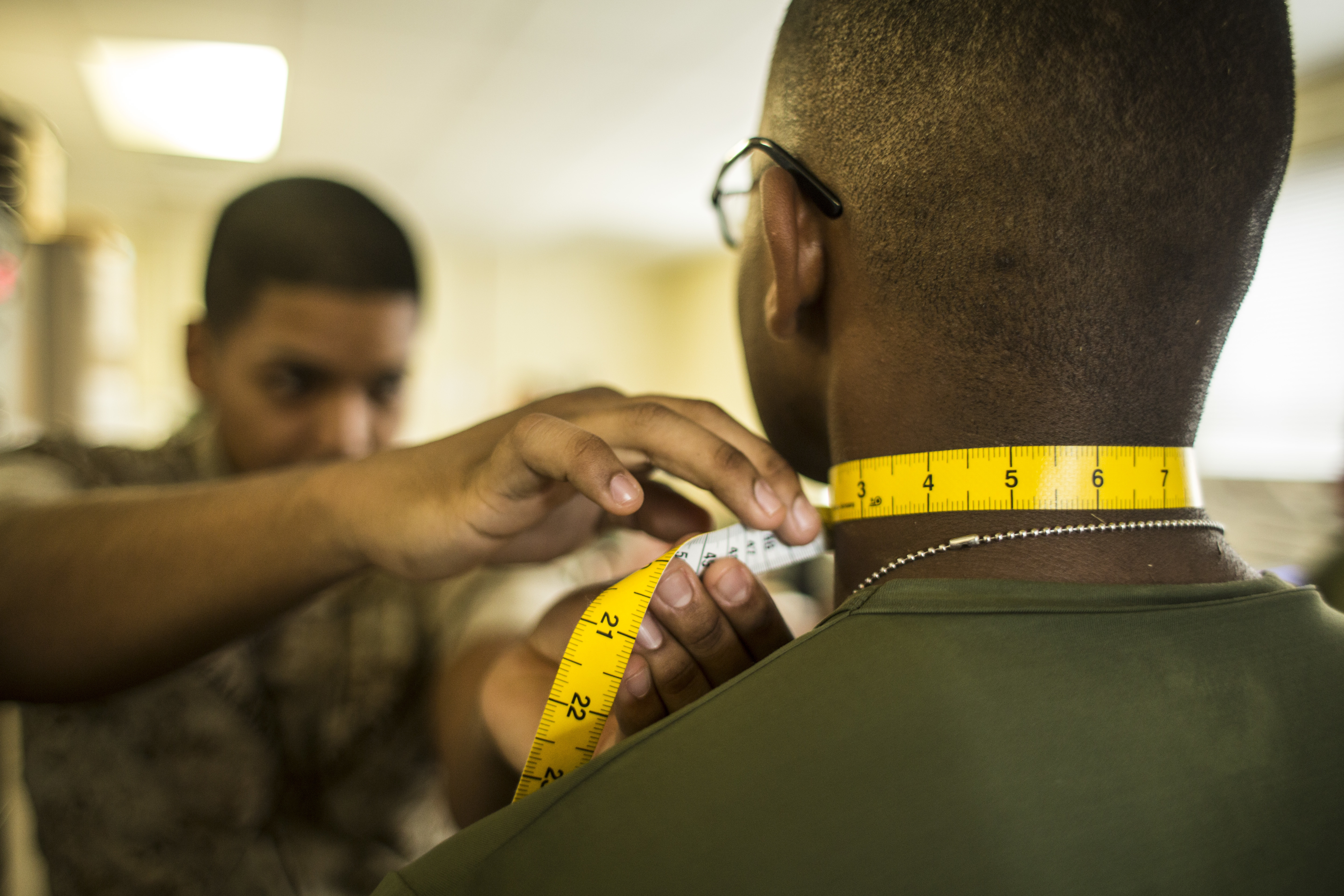 Marines with Marine Wing Headquarters Squadron 2 Conduct a Physical Fitness Test