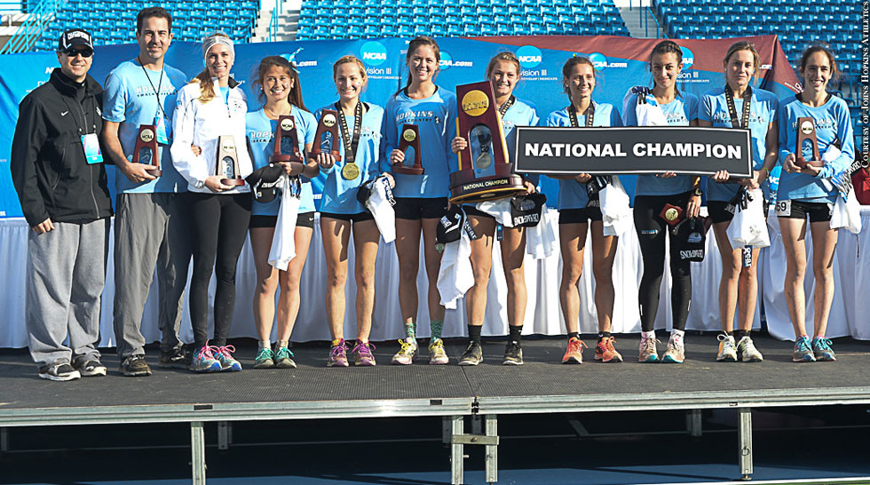 Issue 211: Johns Hopkins Women's Cross Country (2014 Nationals Champions)