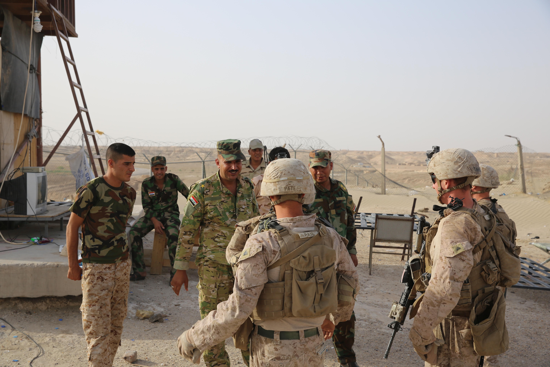 Marines provide security at Al Taqaddum