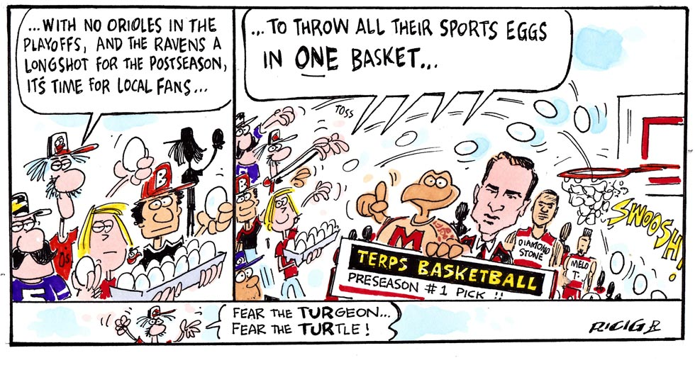 Issue 214: Ricig Cartoon: Fear The Turgeon
