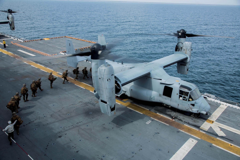 BLT 1/6 Alpha Co Debarks USS Wasp