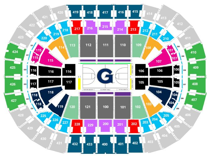 Capital one arena seating charts for concerts events c