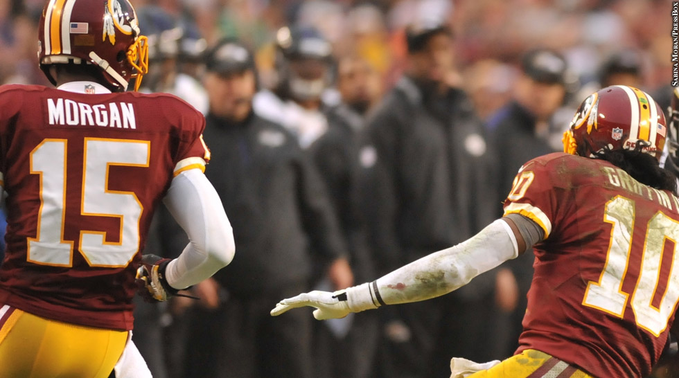 Redskins 2012: Joshua Morgan, Robert Griffin III