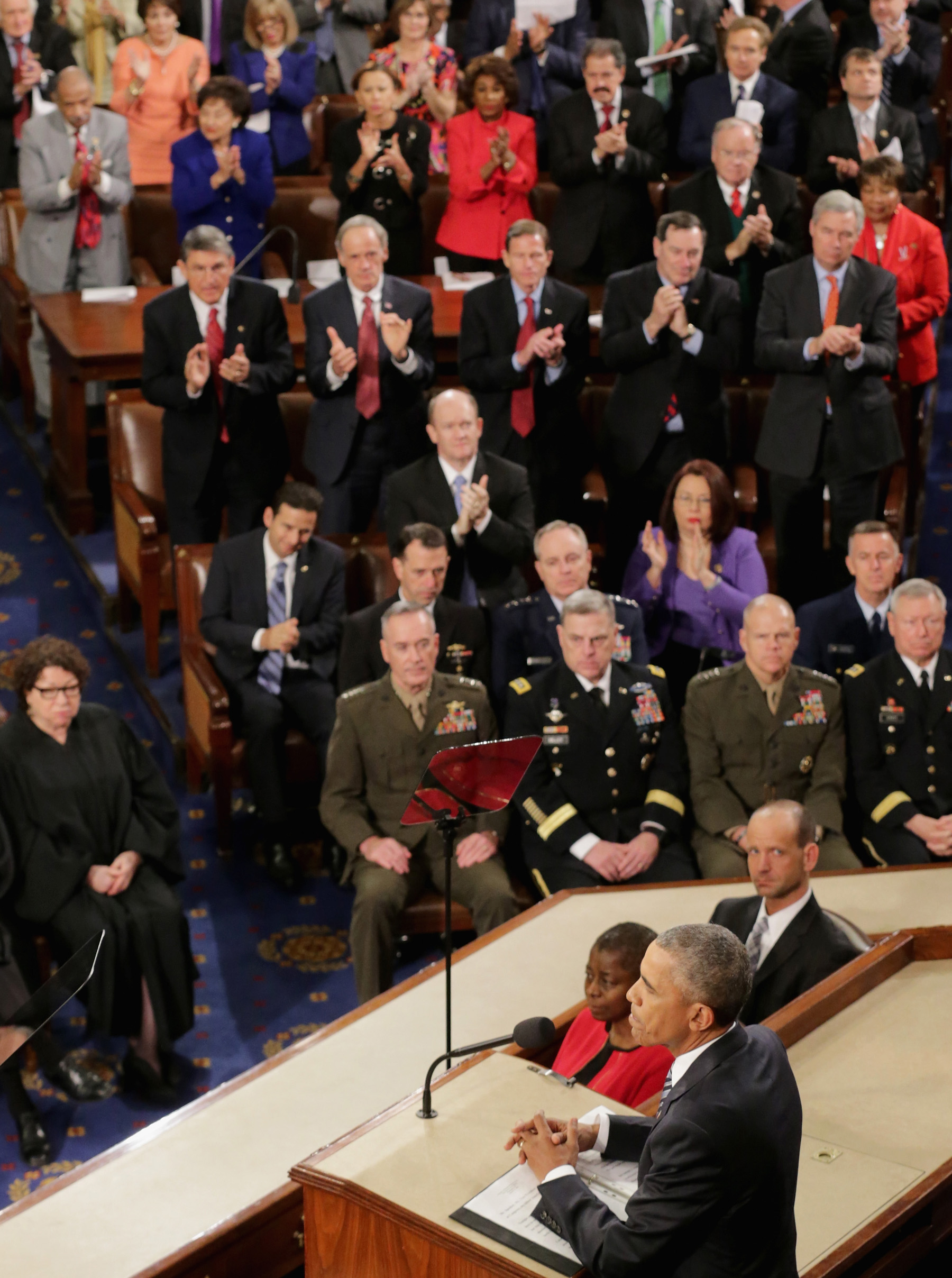 Obama, Joint Chiefs, State of the Union